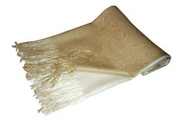 Light Gold Pashmina Shawl
