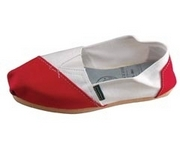 Alpargatas polo shoe (white and red split)