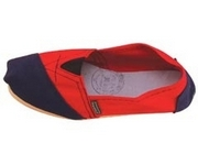 Alpargatas polo shoe (red and blue split)