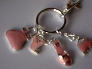 Pink Funky Fashion Keyring