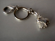Heart Keyring with Swarovski Crystals FREE DELIVERY