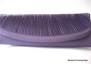 Long Purple Satin Clutch Bag