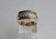 Yellow Gold Ring with Diamonds - UK Size S  - Product RYG300209