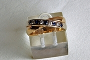 Yellow Gold Ring with Diamonds & Sapphires - UK size P -  Product Code RYG303213
