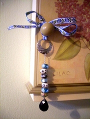 Blue Spangly Dangler