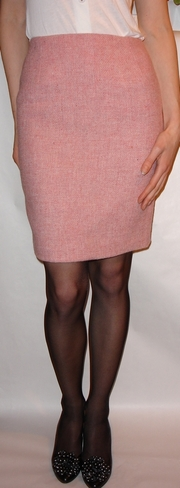 Pink Harris Tweed skirt