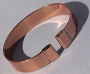Magnetic Pure Copper Plain Wide Bracelet