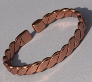Magnetic Pure Copper Flattened Rope Bracelet