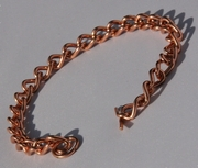 Non Magnetic Pure Copper Ladies Chain Link Bracelet