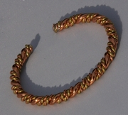 Non Magnetic Pure Twisted Copper & Brass Bracelet