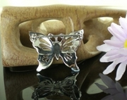 Marcasite and Silver Butterfly Brooch