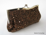 Brown Sequin Evening Bag.