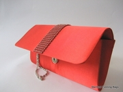 Red Clutch Bag - Evening Bag