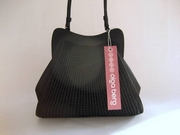 Olga Berg Small Black Satin Occasion Handbag - Evening Bag