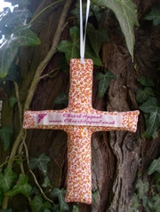 Spring Flowers Cross Decoration