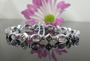 Elegant Silver and Marcasite Bracelet with Amethyst
