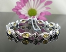 Elegant Silver and Marcasite Bracelet with Citrine