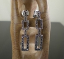 Marcasite and Silver Link Drop Earrings