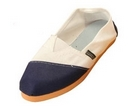 Alpargatas polo shoe (white and blue split)