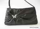 Small Black Evening Bag with Butterfly Detail