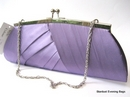 Evening Bag in Purple Satin