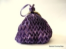Purple Evening Bag in a Pouch Style