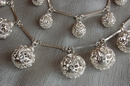 Silver Necklace with Silver Spheres - Product Code NS500150