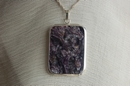 Square Silver Pendant with Charoite - Product Code PS36062