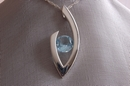 Silver Pendant with Topaz -
