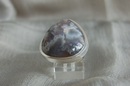 Triangular Silver Ring with Moss Black Agate - Size P - Product Code RS33725
