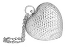 Ella Silver Sequinned Heart Shaped Clasp Bag