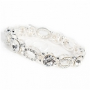 Paris Silver Diamante Bracelet