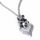 Coleen Beautiful New Metal And Crystals Necklace