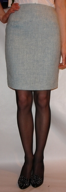 Sky Blue Harris tweed skirt