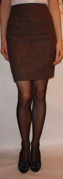Brown Harris tweed skirt