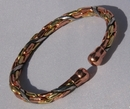 Magnetic Pure Copper 3 Colour Entwined Bracelet