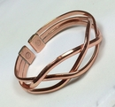 Magnetic Pure Copper Wide Crossover Bracelet