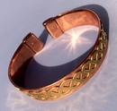 Magnetic Pure Copper Band with Brass Celtic Twist Bracelet