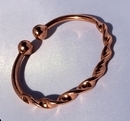 Magnetic Pure Copper Twisted Torque Bracelet