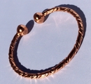 Magnetic Twisted Pure Copper Torque Bracelet