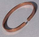 Non Magnetic Pure Copper Plain Narrow Bracelet