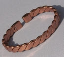 Non Magnetic Pure Copper Flattened Rope Bracelet