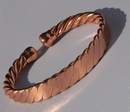 Non Magnetic Twisted Rope Pure Copper Bracelet